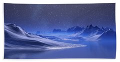 Midnight Snow Beach Towel