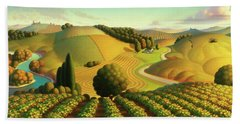 Midwest Vineyard Beach Towel by Robin Moline
