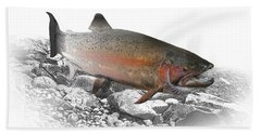 Migrating Steelhead Rainbow Trout Beach Sheet by Randall Nyhof