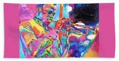 Miles Davis Bebop Beach Towel