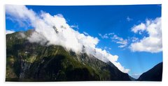 Beach Towel featuring the photograph Milford Sound #2 by Stuart Litoff