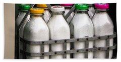 Milk Bottles Beach Towel