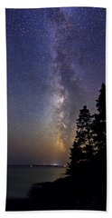 Milky Way At Acadia National Park Beach Towel