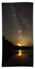 Milky Way At Crafnant 2 Beach Towel