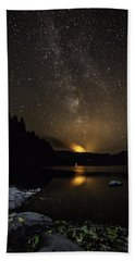 Milky Way At Crafnant Beach Towel