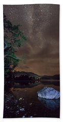 Milky Way At Gwenant Beach Towel