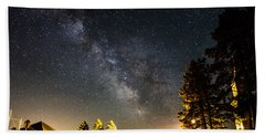 Milky Way From Oldham South Dakota Usa Beach Sheet