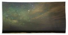 Milky Way Over Folly Beach Beach Towel