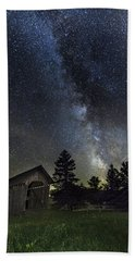 Milky Way Over Foster Covered Bridge Beach Sheet by John Vose