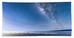 Milky Way Suspended Above Mauna Loa 2 Beach Towel