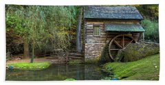 Mill Pond In Woods Beach Towel