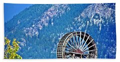 Mill Wheel In The Mountains Beach Towel