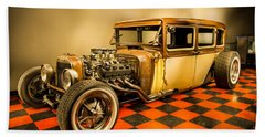 Millers Chop Shop 1929 Dodge Victory Six After Beach Towel by Yo Pedro