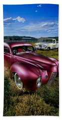 Millers Chop Shop 1940 Ford Coupe Beach Towel