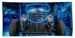 Millers Chop Shop 1946 Chevy Truck Beach Towel by Yo Pedro