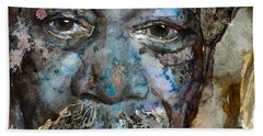 Beach Towel featuring the painting Million Dollar Baby by Laur Iduc