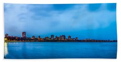 Beach Towel featuring the photograph Milwaukee Skyline - Version 2 by Steven Santamour