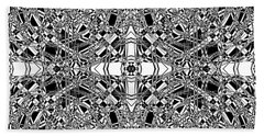 B W Sq 5 Beach Towel