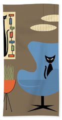 Mini Rectangle Cat Beach Towel