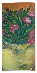 Beach Sheet featuring the painting Mini Roses by Teresa White