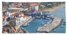 Miniature Port Beach Towel by Vicki Spindler