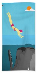 Minimal Sea Life  Beach Towel