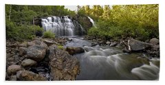 Beach Towel featuring the photograph Mink Falls by Doug Gibbons