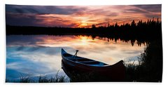 Minnesota Sunset Beach Towel