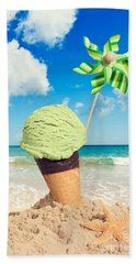 Mint Icecream Beach Towel