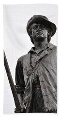 Minute Man Statue Concord Massachusetts Beach Sheet