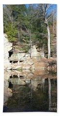 Beach Sheet featuring the photograph Sugar Creek Mirror by Pamela Clements