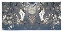 Mirror Of Snow  Beach Sheet