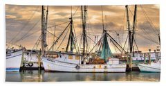 Miss Hale Shrimp Boat Beach Towel