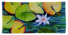 Whimsical Waterlily Beach Towel