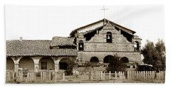 Mission San Antonio De Padua California Circa 1885 Beach Sheet by California Views Mr Pat Hathaway Archives