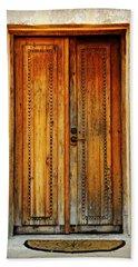 Mission San Juan Capistrano Door -- San Antonio Beach Towel