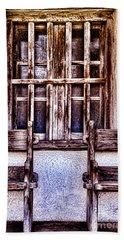 Mission Soledad Window Seating By Diana Sainz Beach Sheet