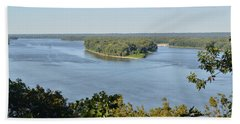 Mississippi River Overlook Beach Towel