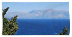Beach Towel featuring the photograph Mistral Wind by George Katechis