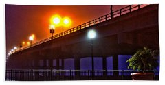 Misty Bridge Beach Towel