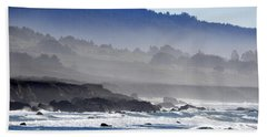 Beach Towel featuring the photograph Misty Coast by AJ  Schibig
