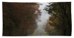 Misty Fall Morning Beach Towel