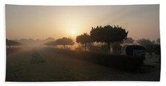 Misty Garden In The Morning Light Beach Towel