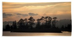 Misty Island Of Assawoman Bay Beach Towel