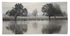 Misty Morning In Bushy Park London 2 Beach Sheet