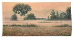 Misty Morning Beach Towel by James W Johnson