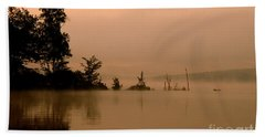 Misty Morning Solitude  Beach Towel