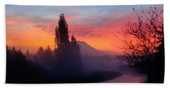 Misty Mountain Morning Beach Towel