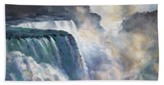 Misty Niagara Falls Beach Towel