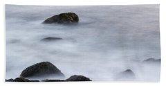 Misty Rocks Beach Towel